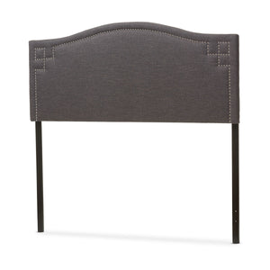 Baxton Studio Aubrey Modern and Contemporary Dark Grey Fabric Upholstered King Size Headboard Baxton Studio-King Headboard-Minimal And Modern - 3