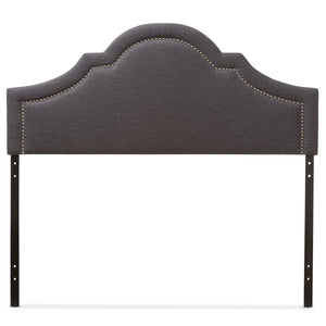 Baxton Studio Rita Modern and Contemporary Dark Grey Fabric Upholstered Queen Size Headboard Baxton Studio-Queen Headboard-Minimal And Modern - 2