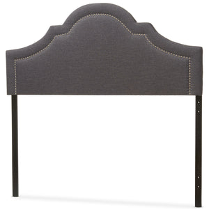 Baxton Studio Rita Modern and Contemporary Dark Grey Fabric Upholstered King Size Headboard Baxton Studio-King Headboard-Minimal And Modern - 3