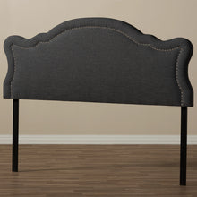 Baxton Studio Avery Modern and Contemporary Dark Grey Fabric Queen Size Headboard Baxton Studio-Queen Headboard-Minimal And Modern - 5