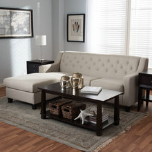 Baxton Studio Arcadia Light Beige Fabric Upholstered Button-Tufted 2-Piece Sectional Sofa Baxton Studio-sectionals-Minimal And Modern - 6