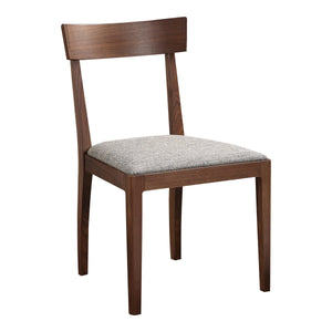 Moe's Home Collection Leone Dining Chair Walnut Set of Two - BC-1078-24