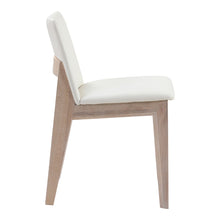 Moe's Home Collection Deco Oak Dining Chair White Pvc-Set of Two - BC-1086-05