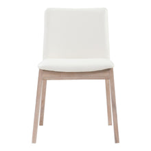 Moe's Home Collection Deco Oak Dining Chair White Pvc-Set of Two - BC-1086-05 - Moe's Home Collection - Dining Chairs - Minimal And Modern - 1