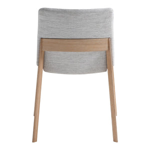 Moe's Home Collection Deco Oak Dining Chair Light Grey-Set of Two - BC-1086-29