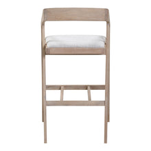 Moe's Home Collection Padma Oak Barstool Light Grey - BC-1090-29
