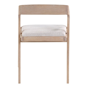 Moe's Home Collection Padma Oak Arm Chair Light Grey - BC-1091-29