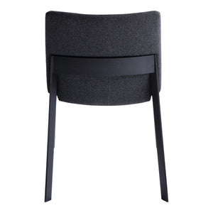 Moe's Home Collection Deco Ash Dining Chair Charcoal-Set of Two - BC-1095-07