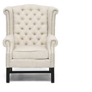 Baxton Studio Sussex Beige Linen Club Chair  Baxton Studio-chairs-Minimal And Modern - 2