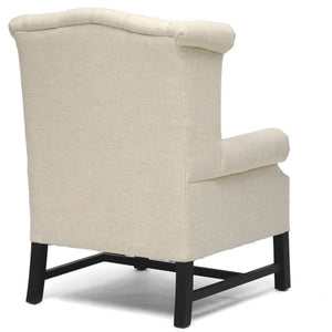 Baxton Studio Sussex Beige Linen Club Chair  Baxton Studio-chairs-Minimal And Modern - 4