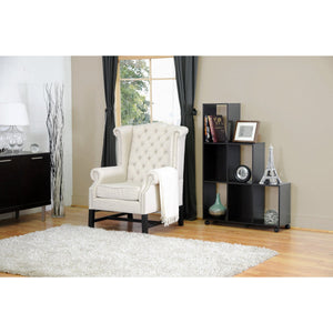 Baxton Studio Sussex Beige Linen Club Chair  Baxton Studio-chairs-Minimal And Modern - 5