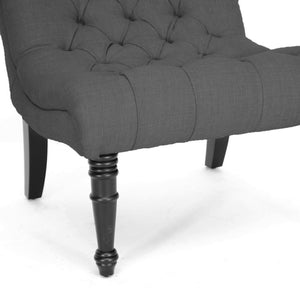 Baxton Studio Caelie Gray Linen Modern Lounge Chair Baxton Studio-chairs-Minimal And Modern - 5