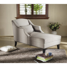 Baxton Studio Asteria Putty Gray Linen Modern Chaise Lounge Baxton Studio-chairs-Minimal And Modern - 4