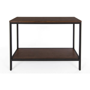 Bamboogle Dark Grey Console Table With Black Legs Industrial Chic Bamboo Accent Table BKL-10-B-4414-G-Minimal & Modern