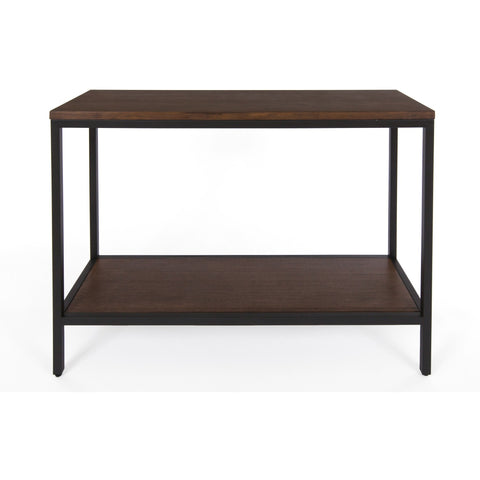 Bamboogle Dark Grey Console Table With Black Legs Industrial Chic Bamboo Accent Table BKL-10-B-4414-G
