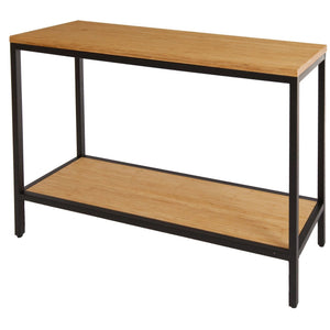 Bamboogle Timber Console Table With Black Legs BKL-10-B-4414-T