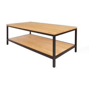 Bamboogle Timber Coffee Table With Black Legs BKL-20-B-4924-T-Minimal & Modern