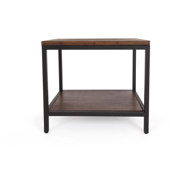 Bamboogle Rustic Grey Rectangle Side Table With Black Legs BKL-30-B-2420-G-Minimal & Modern