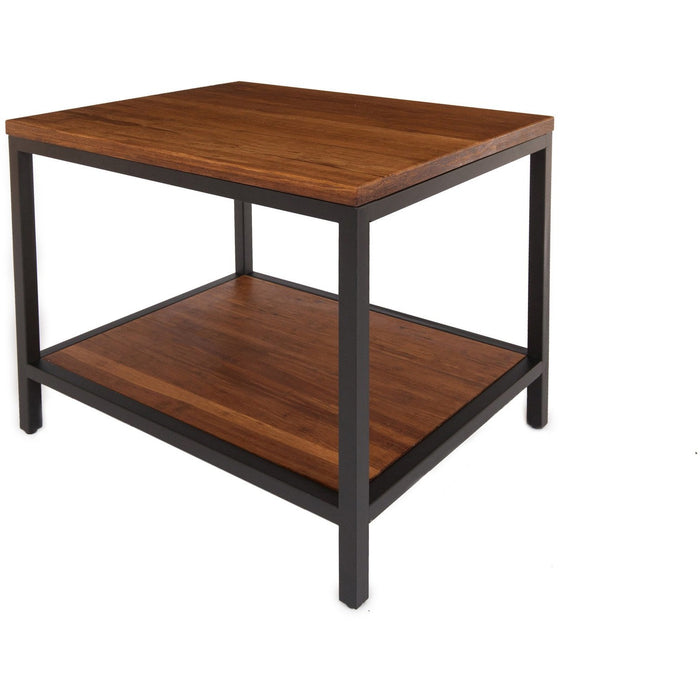 Bamboogle Koa Bamboo Rectangle Side Table With Black Legs BKL-30-B-2420-K-Minimal & Modern