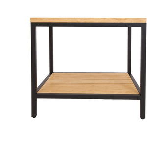 Bamboogle Timber Rectangle Side Table With Black Legs BKL-30-B-2420-T-Minimal & Modern