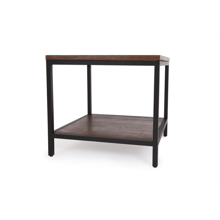 Bamboogle Rustic Grey Square Side Table With Black Legs BKL-30-B-2424-G-Minimal & Modern