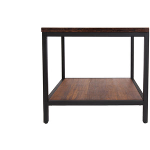 Bamboogle Koa Square Bamboo Side Table With Black Legs BKL-30-B-2424-K-Minimal & Modern