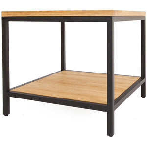 Bamboogle Timber Square Side Table With Black Legs BKL-30-B-2424-T-Minimal & Modern