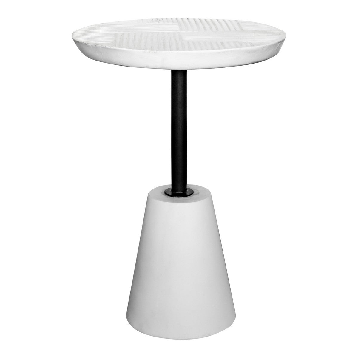Moe's Home Collection Foundation Outdoor Accent Table White - BQ-1046-18 - Moe's Home Collection - side tables - Minimal And Modern - 1