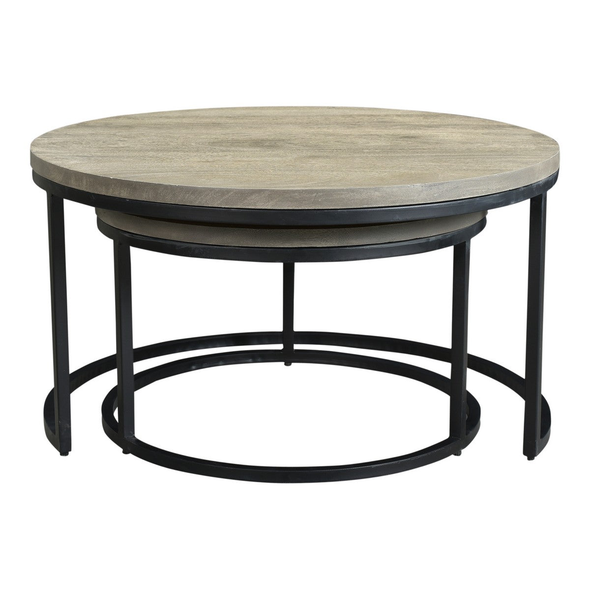Moe's Home Collection Drey Round Nesting Coffee Tables Set of Two - BV-1011-15 - Moe's Home Collection - Coffee Tables - Minimal And Modern - 1
