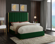 Meridian Furniture Becca Green Velvet King Bed