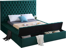 Meridian Furniture Bliss Green Velvet Full Bed (3 Boxes)