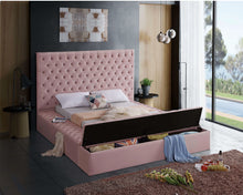Meridian Furniture Bliss Pink Velvet Full Bed (3 Boxes)