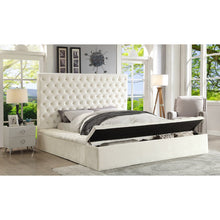 Meridian Furniture Bliss White Velvet King Bed (3 Boxes)-Minimal & Modern