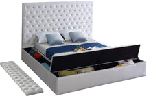 Meridian Furniture Bliss White Velvet King Bed (3 Boxes)