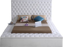 Meridian Furniture Bliss White Velvet Queen Bed (3 Boxes)