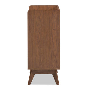 Baxton Studio Brighton Mid-Century Modern White and Walnut Wood 3-Drawer Storage Chest Baxton Studio-Dresser-Minimal And Modern - 5