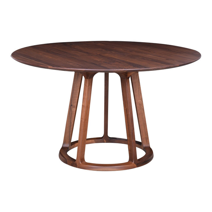 MOE'S HOME COLLECTION ALDO ROUND DINING TABLE WALNUT - CB-1027-03-Minimal & Modern