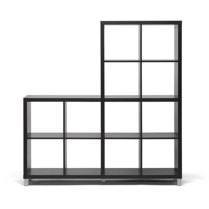 Baxton Studio Sunna Dark Brown Modern Cube Shelving Unit Baxton Studio--Minimal And Modern - 1