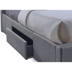 Baxton Studio Sarter Contemporary Grid-Tufted Grey Fabric Upholstered Storage Queen-Size Bed with 2-drawer Baxton Studio-beds-Minimal And Modern - 3