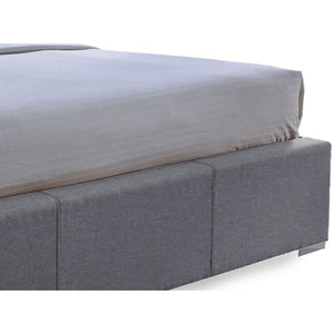 Baxton Studio Sarter Contemporary Grid-Tufted Grey Fabric Upholstered Storage Queen-Size Bed with 2-drawer Baxton Studio-beds-Minimal And Modern - 4