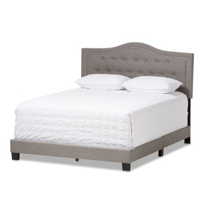 Baxton Studio Emerson Modern and Contemporary Light Grey Fabric Upholstered King Size Bed Baxton Studio-King Bed-Minimal And Modern - 2