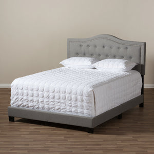 Baxton Studio Emerson Modern and Contemporary Light Grey Fabric Upholstered King Size Bed Baxton Studio-King Bed-Minimal And Modern - 7