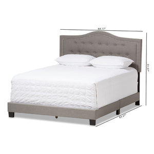 Baxton Studio Emerson Modern and Contemporary Light Grey Fabric Upholstered King Size Bed Baxton Studio-King Bed-Minimal And Modern - 8