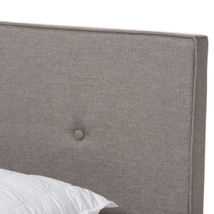 Baxton Studio Hampton Modern and Contemporary Light Grey Fabric Upholstered Full Size Bed Baxton Studio-Full Bed-Minimal And Modern - 5