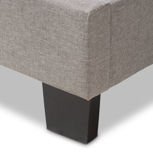 Baxton Studio Hampton Modern and Contemporary Light Grey Fabric Upholstered Full Size Bed Baxton Studio-Full Bed-Minimal And Modern - 6
