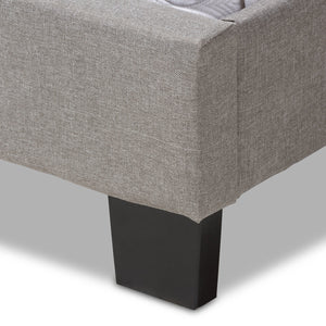 Baxton Studio Cassandra Modern and Contemporary Light Grey Fabric Upholstered King Size Bed Baxton Studio-King Bed-Minimal And Modern - 6