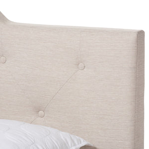 Baxton Studio Brunswick Modern and Contemporary Light Beige Fabric Upholstered Full Size Bed Baxton Studio-Full Bed-Minimal And Modern - 5