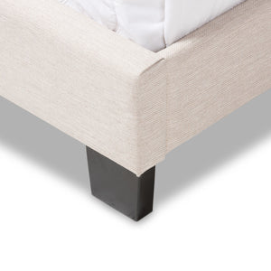 Baxton Studio Brunswick Modern and Contemporary Light Beige Fabric Upholstered Queen Size Bed Baxton Studio-Queen Bed-Minimal And Modern - 6