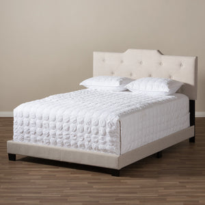 Baxton Studio Brunswick Modern and Contemporary Light Beige Fabric Upholstered Full Size Bed Baxton Studio-Full Bed-Minimal And Modern - 7