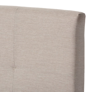 Baxton Studio Brookfield Modern and Contemporary Beige Fabric Upholstered Grid-tufting Full Size Bed Baxton Studio-Full Bed-Minimal And Modern - 4
